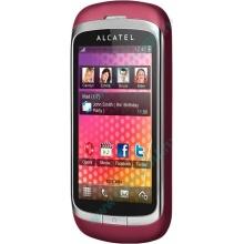 Красно-розовый телефон Alcatel One Touch 818 (Прокопьевск)
