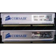 Память 2 шт по 512Mb DDR Corsair XMS3200 CMX512-3200C2PT XMS3202 V5.2 400MHz CL 2.0 0615197-0 Platinum Series (Прокопьевск)