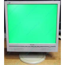 """Б/У монитор 17"""" Philips 170B с колонками и USB-хабом в Прокопьевске, белый (Прокопьевск)"""